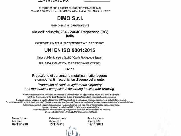 Nachrichten lesen | Rinnovo certificazione ISO 9001:2015